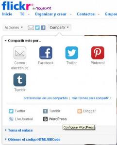 Conectar Flickr y WordPress | Dale a ver más para añadir compartir en WordPress