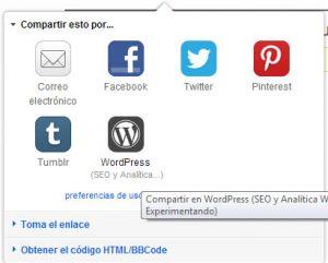 Cómo conectar Flickr y WordPress | WordPress aparecerá como opción tras hacer esto