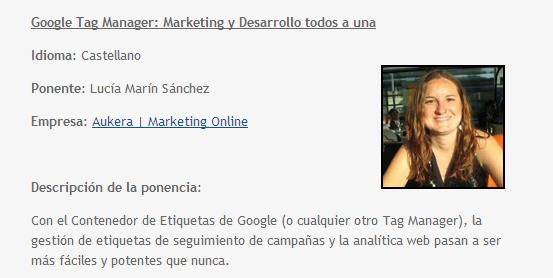 Google Tag Manager: Lucía Marín | Euskal Encounter