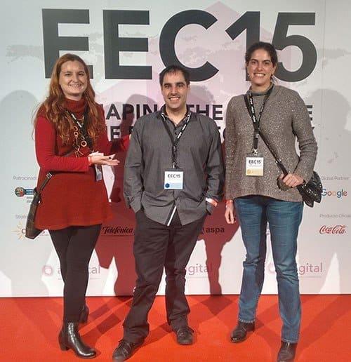 Lucía Marín, Gorka Goikoetxea y Andrea Mínguez en EEC15