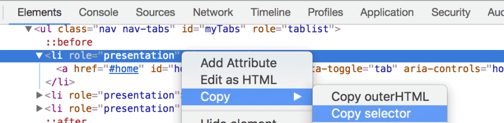 Copy Selector Tag Manager CSS Selector