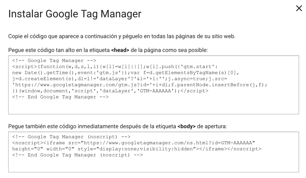Cómo instalar Google Tag Manager en WordPress