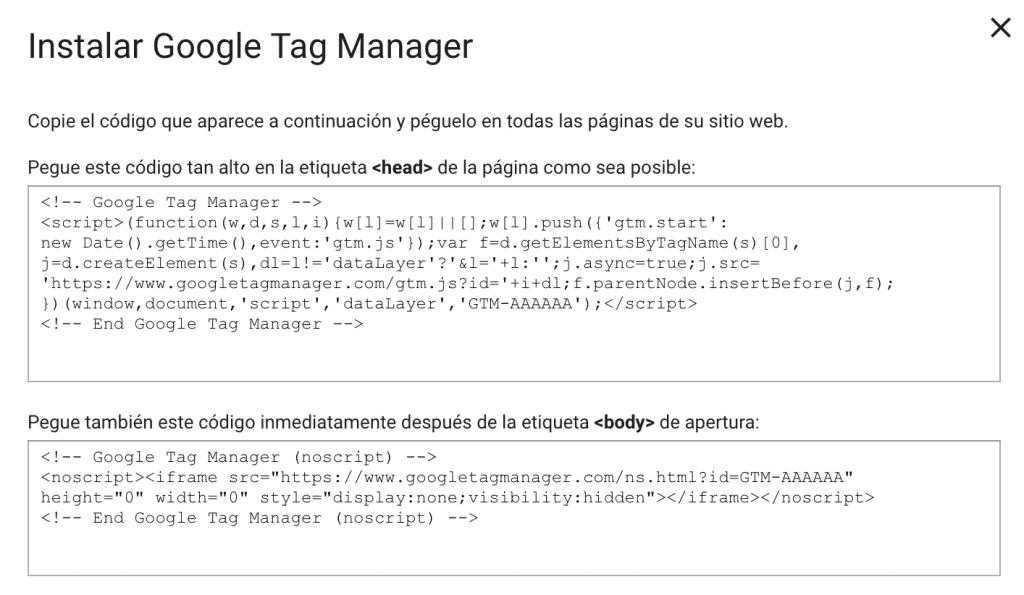 Cómo instalar Google Tag Manager en WordPress