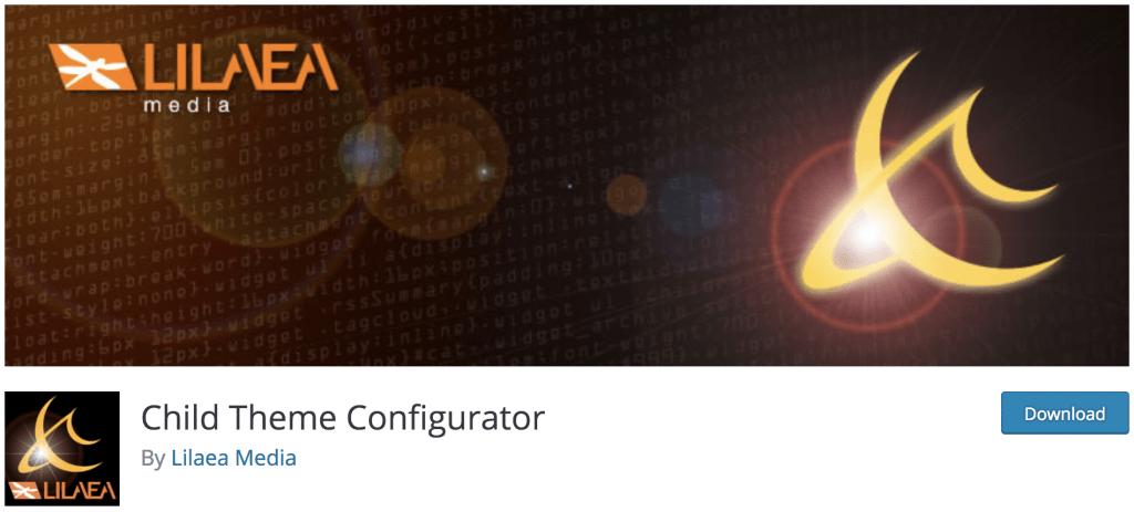Plugin Child Theme Configurator