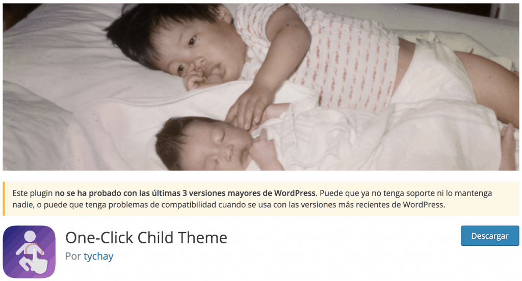 Plugin One-Click Child Theme
