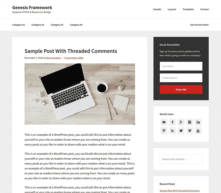 WordPress Theme Genesis Framework