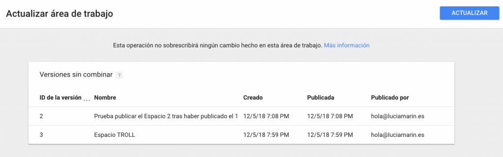 workspace-desactualizado-tag-manager